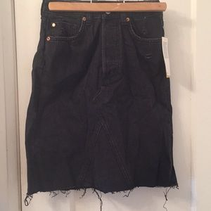 H&M Skirts - High waist denim skirt